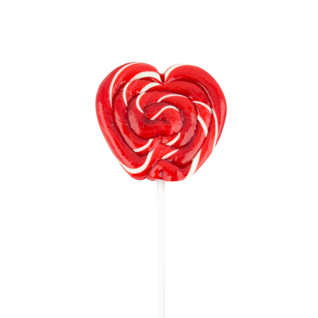 Paleta Corazón Roja